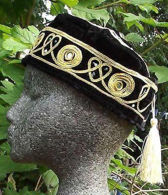 Smoking hat cap BLACK hat with tassel S M 2XL 3XL sizes NEW Braver Grace